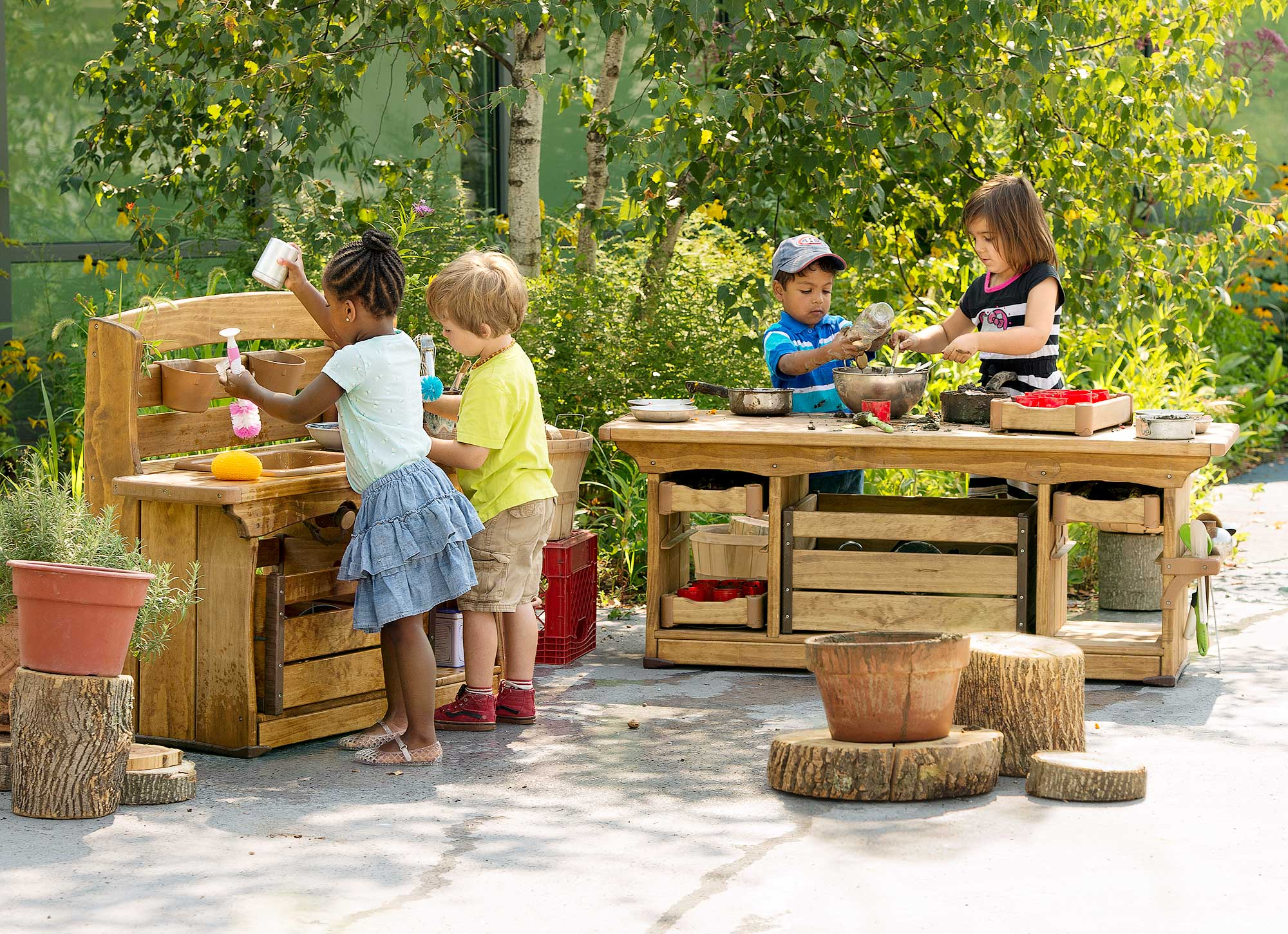 Learning with nature - Mud kitchens
